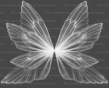 Load image into Gallery viewer, 8 Png WHITE FAIRY WING Overlays Set 6