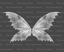 Load image into Gallery viewer, 8 Png WHITE FAIRY WING Overlays Set 7