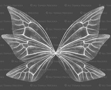 Load image into Gallery viewer, 8 Png WHITE FAIRY WING Overlays Set 8