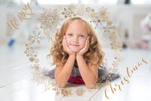 Load image into Gallery viewer, GOLD SNOWFLAKE & GLITTER FRAMES - Clipart