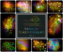 Load image into Gallery viewer, 10 RAINBOW BOKEH Overlays Set 3