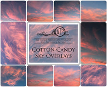 Load image into Gallery viewer, 10 COTTON CANDY High Resolution SKY Overlays