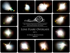 48 LENS / SUN FLARE Digital Overlays - Bundle No.1