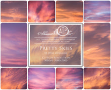 Load image into Gallery viewer, 10 PRETTY SKY Digital Overlays SET 1
