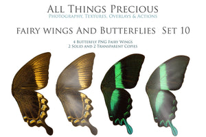 Png Digital Overlays FAIRY WINGS and BUTTERFLIES Set 10