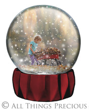 Load image into Gallery viewer, SNOW GLOBE Png Digital Overlays and PSD Template No.5
