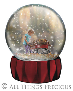 SNOW GLOBE Png Digital Overlays and PSD Template No.5