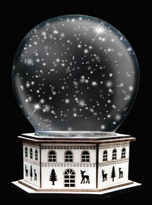 SNOW GLOBE Png Digital Overlays and PSD Template No.6