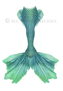 MERMAID TAILS Set 10 - Digital Overlays