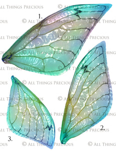 PRINTABLE FAIRY WINGS for Art Dolls - Set 2