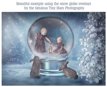 Load image into Gallery viewer, SNOW GLOBE Png Digital Overlays and PSD Template No.2
