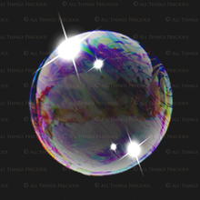 Load image into Gallery viewer, RAINBOW BUBBLE Digital Overlays