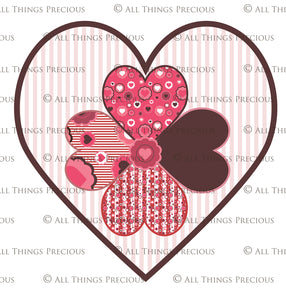 SWEET HEART Digital Papers Set 6