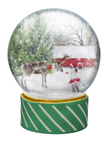 SNOW GLOBE Png Overlays and PSD Template No.4
