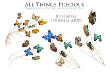 Load image into Gallery viewer, BUTTERFLIES ON A STRING Digital Overlays
