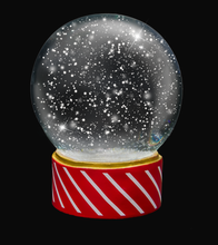 Load image into Gallery viewer, SNOW GLOBE Png Overlays and PSD Template No.4