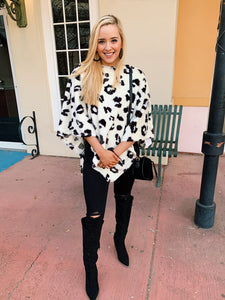 Living For White Leopard - Poncho