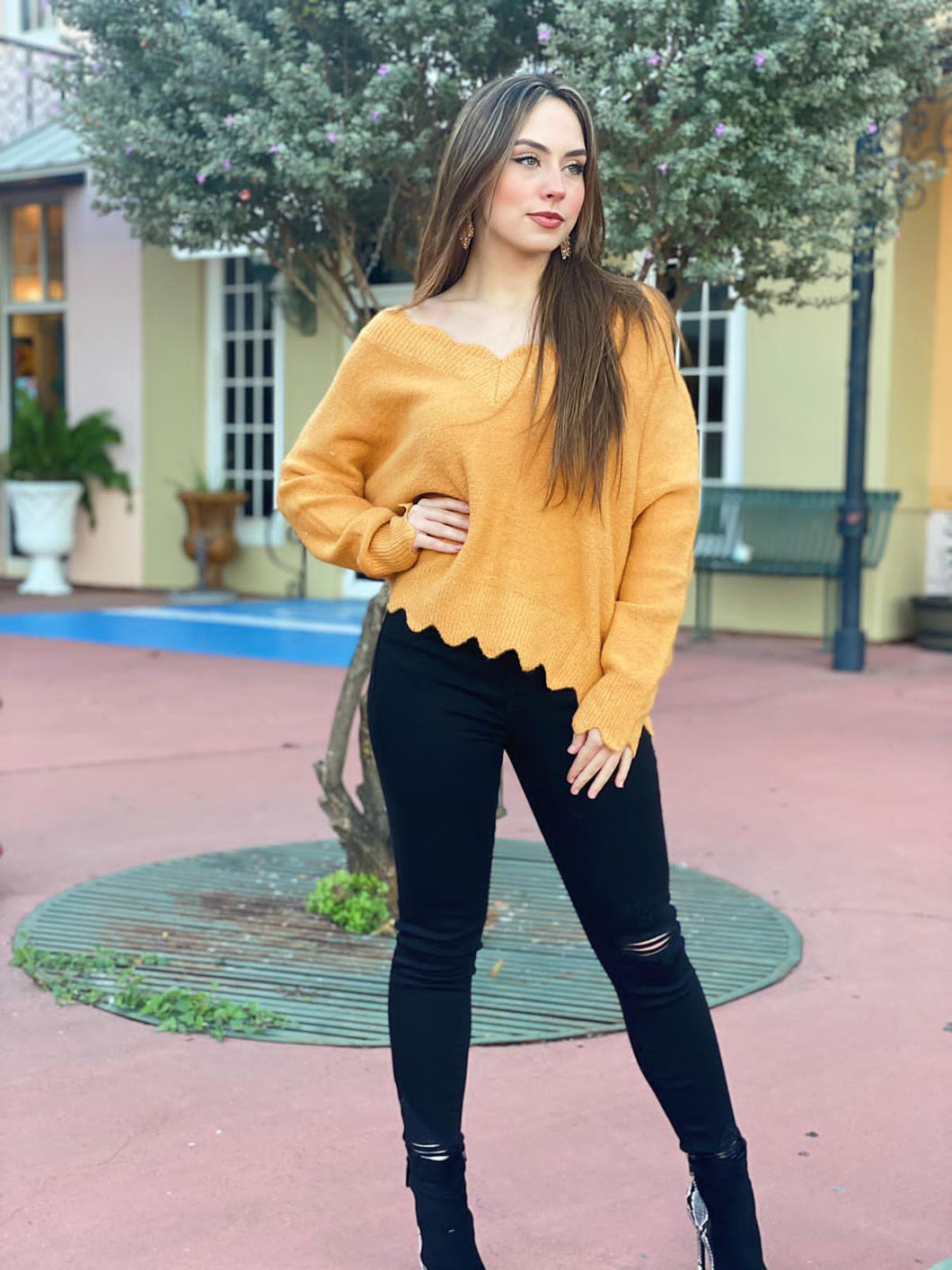 The Perfect Girlfriend - Mustard Sweater