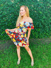 Load image into Gallery viewer, Floral Wonderland Ruffle Dress