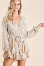 Load image into Gallery viewer, Leopard Chiffon Romper In Ivory
