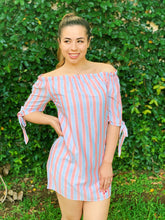 Load image into Gallery viewer, Mauve Stripe Down Dress