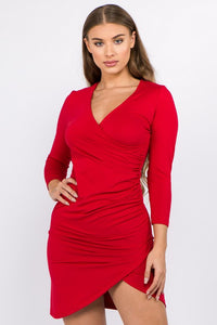 Merry & Bright Bodycon Dress - Crimson Red