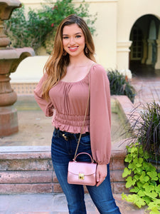 Snatched Waist - Taupe Crop Top