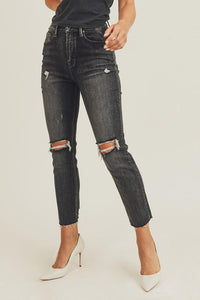 Distressed in Risen Jeans