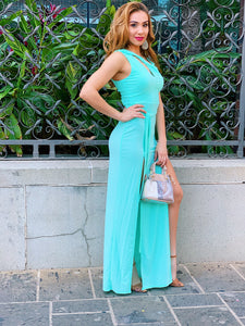 Tie You Up - Mint Maxi Dress