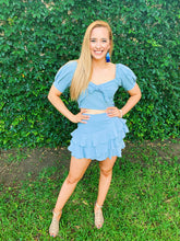 Load image into Gallery viewer, Ready For The Fun Ruffled Skirt Set - Blue