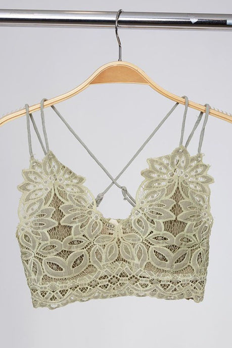 Dainty and Sexy Bralette - Olive