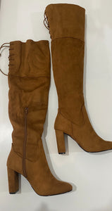 Maple Suede Thigh High Boots