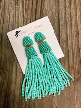 Load image into Gallery viewer, Mint Tassel Earrings