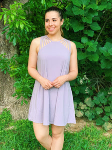 Lavender Flare Dress