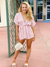 Load image into Gallery viewer, Stripe Down In Blush - Romper