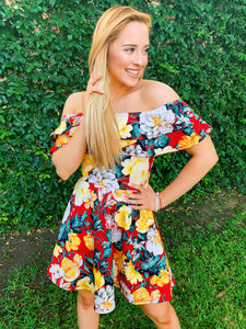 Floral Wonderland Ruffle Dress