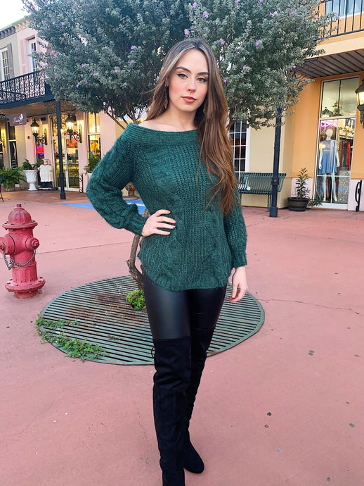 Cactus Green - Chunky Sweater