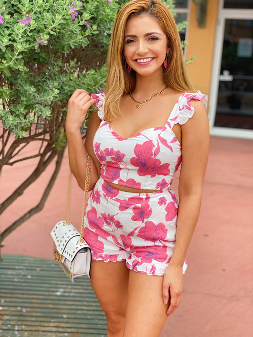 Ruffled In Floral - Set