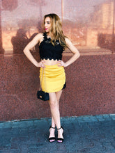 Load image into Gallery viewer, Lacey in Mustard Mini Skirt