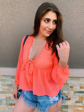 Load image into Gallery viewer, Lets Get Neon In Polka Dots - Blouse