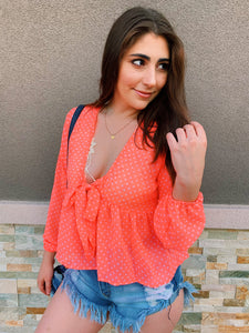 Lets Get Neon In Polka Dots - Blouse