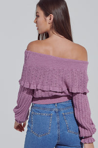 Berry Into You Knit Sweater