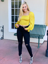 Load image into Gallery viewer, Yellow Feels - Smocked Blouse