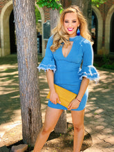 Load image into Gallery viewer, Blue Denim Frayed - Mini Dress