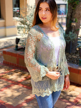 Load image into Gallery viewer, Desert Sage Lace Kimono