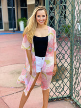 Load image into Gallery viewer, Blush and Floral Kimono - OS