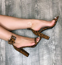 Load image into Gallery viewer, One Strap Leopard Heel