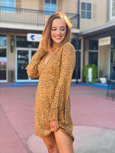 Load image into Gallery viewer, Mustard Leopard Mini Dress