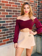 Load image into Gallery viewer, Taupe Mini Skort