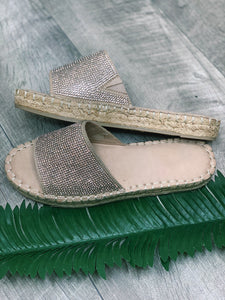 Natural Suedette Sandals